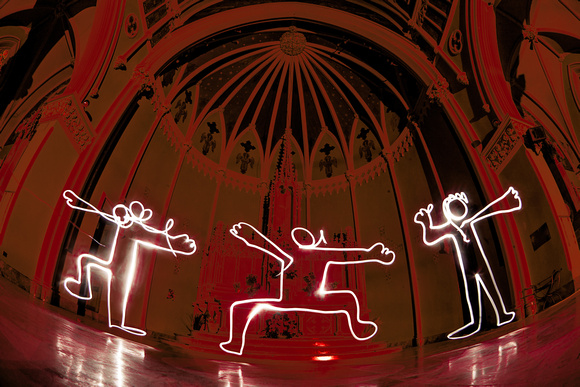 Light Painting GREAT HALL w/ Norm Kirby